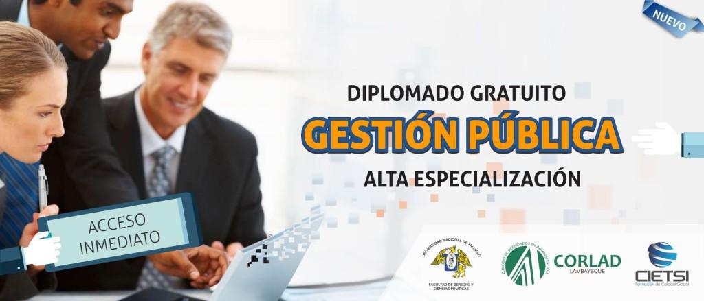 DIPLOMADO GRATUITO EN GESTION PÚBLICA